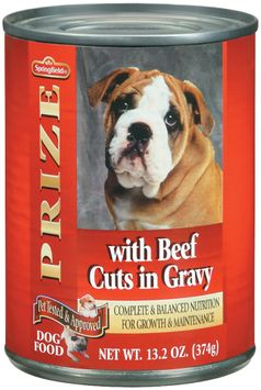 Springfield Prize W/Beef Cuts in Gravy Dog Food