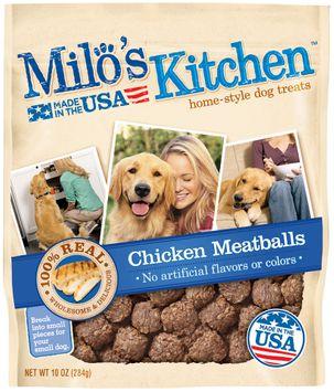 Milo's Kitchen Chicken Meatballs Dog Treats