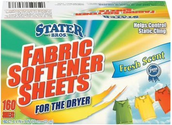 Stater Bros. Fresh Scent For The Dryer Fabric Softener Sheets 160 Ct Box