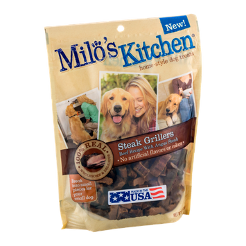 Milo's Kitchen Home-Style Dog Treats Steak Grillers