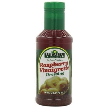 Vidalia Brand Sweet Onion Raspberry Vinaigrette Dressing, 16-Ounce (Pack of 6)