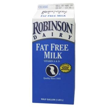 Robinson Dean's Skim Milk .5 gal