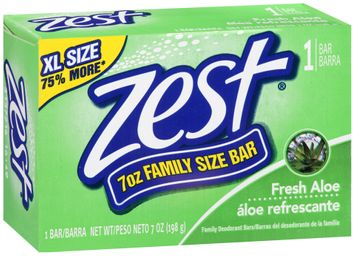 Zest Fresh Aloe Family Size Soap Bar
