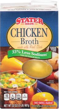 Stater bros® Chicken Broth 33% Less Sodium