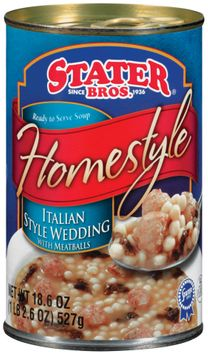 Stater bros Homestyle Italian style Wedding W/Meatballs Soup