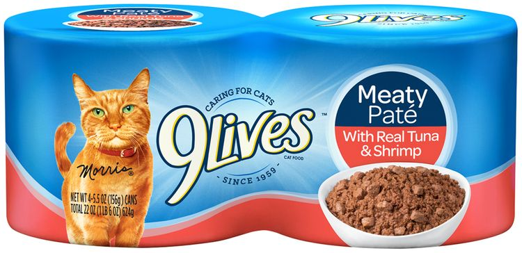 9Lives Meaty Pate with Real Tuna & Shrimp Wet Cat Food
