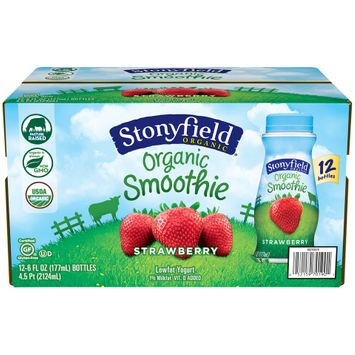Stonyfield® Strawberry Organic Lowfat Yogurt Smoothies 1
