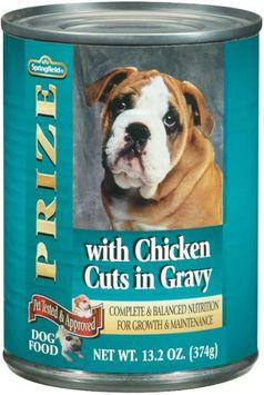 Springfield Prize W/Chicken Cuts in Gravy Dog Food
