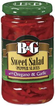 B&G Sweet Salad Slices W/Oregano & Garlic Peppers