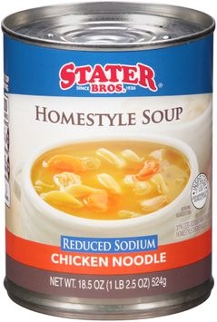 Stater bros® Reduced Sodium Chicken Noodle Homestyle Soup
