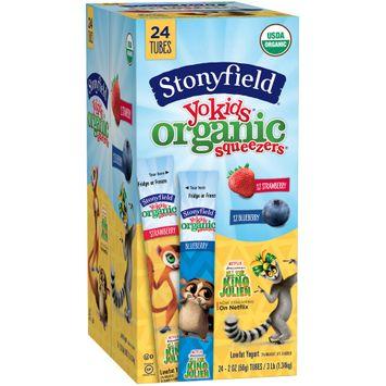 Stonyfield Yokids® Strawberry & Blueberry Organic Squeezers® Lowfat Yogurt 2 Tubes