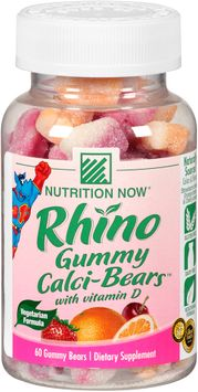 Nutrition Now® Rhino Gummy Calci-Bears™ with Vitamin D 60 ct. Plastic Bottle