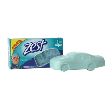 Zest Bar Soap Special Edition Car Shaped Aqua