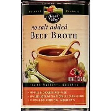 Health Valley Nat Foods Health Valley Beef Flavored Broth No Salt Added, Fat Free, 14.25 Ounce Cans (Pack of 12) ( Value Bulk Multi-pack)