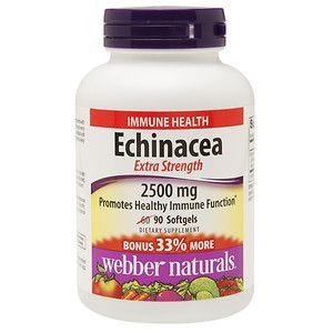 Webber Naturals Echinacea Extra Strength 2500mg, 90 ea