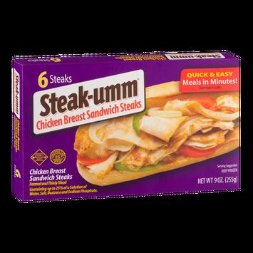 Steak-umm Chicken Breast Sandwich Steaks - 6 CT