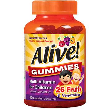 Nature's Way Alive! Multi-Vitamin Dietary Supplement Gummies for Children