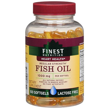Finest Nutrition Fish Oil 1000 mg Dietary Supplement Softgels