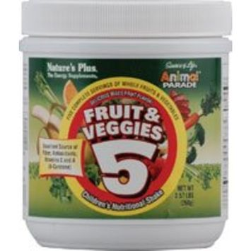 Nature's Plus - Animal Parade Fruit & Veggies 5 Shake - 0.57 lbs