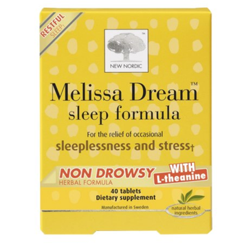 New Nordic Melissa Dream Sleep Formula, Non Drowsy, Tablets, 40 ea
