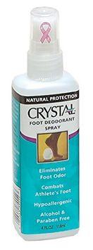 Crystal Foot Deodorant Spray - Unscented 4 Oz