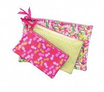 Danielle Enterprises Collection 3 Piece Cosmetic Bag Set