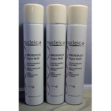 Nucleic a Super Hold Hairspray 55%, Proteplex, 10.1 Fluid Ounce 3 Each