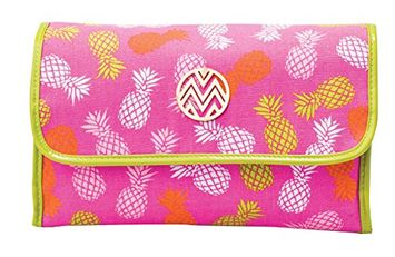 Danielle Enterprises Macbeth Pina Colada Collection Fold Out Hanging Valet Cosmetic Bag
