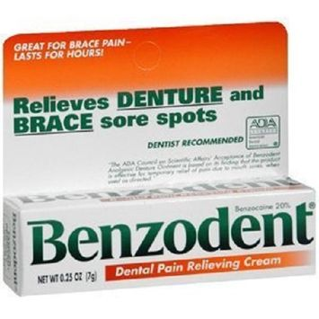 Benzodent RDC08232001 Dental Pain Relieving Cream