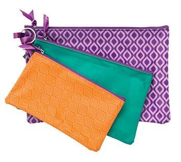 Danielle Enterprises Moroccan Mirage 3 Piece Cosmetic Bag Set