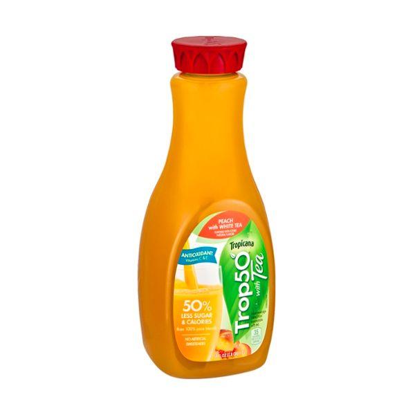 Tropicana® Trop50 Juice Beverage 50% Less Sugar & Calories Peach With White Tea