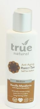 Perfect Tan Body Self Tan Lotion Vanilla Mandarin, Medium True Natural 4 fl oz L