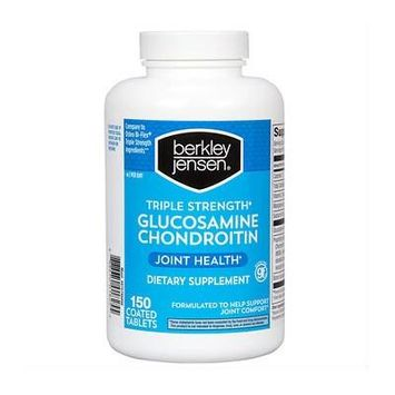 Berkley Jensen Triple-Strength Glucosamine Chondroitin Dietary Supplement Caplets - 150 Count