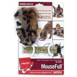 "Worldwise Inc Petlinks Mousefull Refillable Catnip Toy (4"" Length)"
