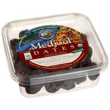 United With Earth Organic Medjool Dates, 16-Ounce Containers (Pack of 4)