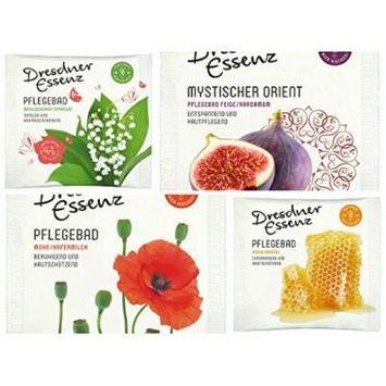 Dresdner Essenz Bath Salts (3 Different Sachets) in Paris Inspired Cosmetic Bag