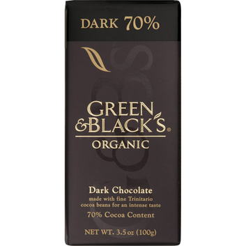 Green & Black's : Bittersweet Dark w/70% Cocoa Content Organic Chocolate