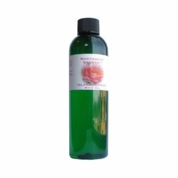 Northwest Scents Island Flower Hair Oil for Black, African American, Afro Caribbean, Dry, Coarse, and Highly Textured Hair - 4.0 oz bottle