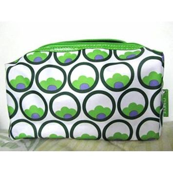 Clinique Cosmetic Bag, Purple, Green, & White Makeup Storage Case