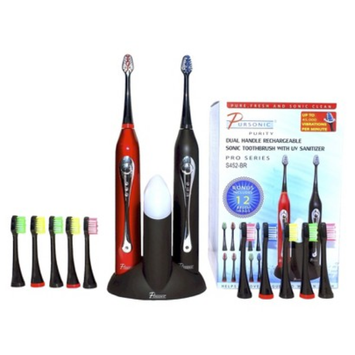 Pursonic Dual Handle Rechargeable Sonic Toothbrush Set