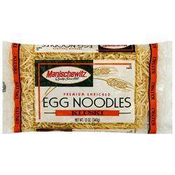 Manischewitz B74223 Manischewitz Kluski Egg Noodles -12x12oz