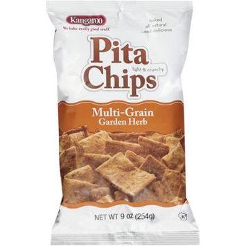 Kangaroo Pita Chips Multi-Grain Garden Herb 9 Oz Pack Of 12