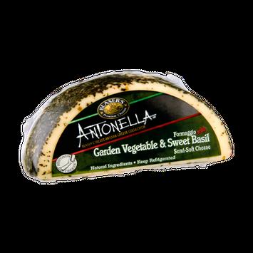 Blaser's Antonella Formaggio with Garden Vegetable & Sweet Basil Semi-Soft Cheese