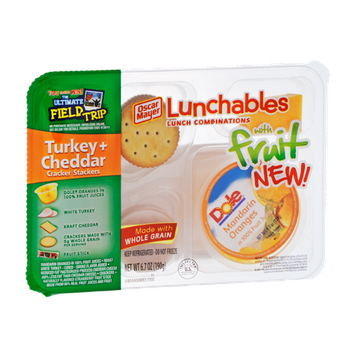 Lunchables Oscar Mayer Turkey+Cheddar Cracker Stackers with Fruit
