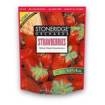 Stoneridge Orchards Whole Dried Strawberries, 14-Ounce Pouches (Pack of 2)