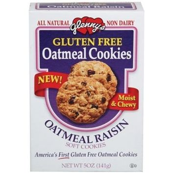 Glenn Foods Glenny's Oatmeal Raisin Cookie, Gluten Free 5.0 OZ (Pack of 12)
