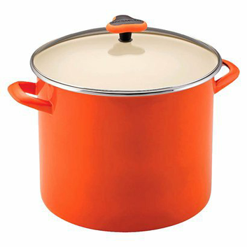 Rachael Ray Orange Stockpot with Glass Lid - 12 Qt.