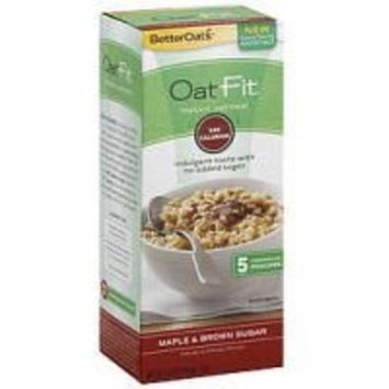 Better Oats Oat Fit Instant Oatmeal ~ Maple & Brown Sugar ~ 5 Pouches per 4.9 oz Box (Pack of 3 Boxes)