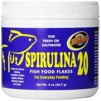 Zoo Med Spirulina 20 Flake Fish Food