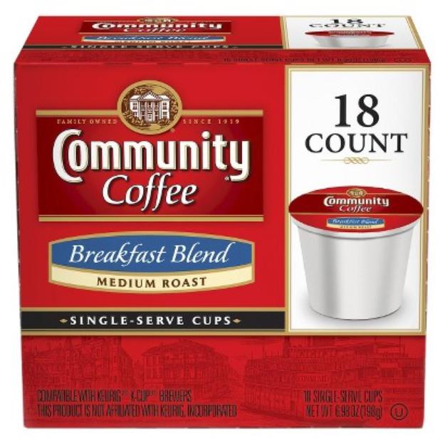 Community Coffee Company Community Coffee Breakfast Blend Single Cup 18ct